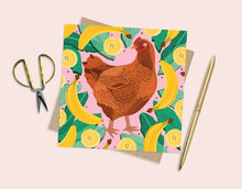 Load image into Gallery viewer, Chicken and Bananas Card
