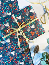 Load image into Gallery viewer, Christmas Chickens Wrapping Paper