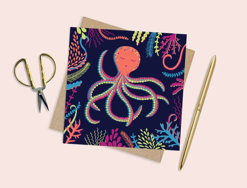 Colourful Octopus Card