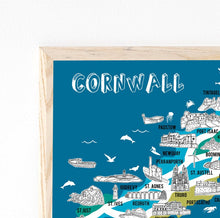 Load image into Gallery viewer, Cornwall Illustrated Map