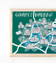 Load image into Gallery viewer, County Durham Illustrated Map