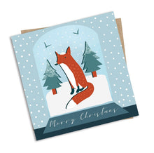 Load image into Gallery viewer, Fox in a Snowglobe Christmas Card