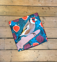 Load image into Gallery viewer, Goldfinch and Figs Cushion
