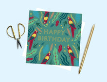 Load image into Gallery viewer, Happy Birthday Parrot Card