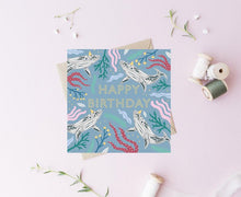 Load image into Gallery viewer, Happy Birthday Whale Card