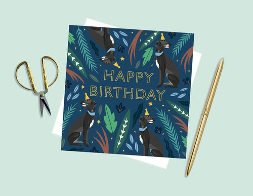 Happy Birthday Whippets Card