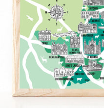 Load image into Gallery viewer, Hertfordshire Illustrated Map