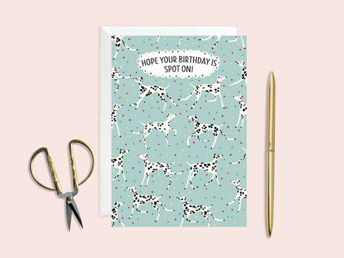 Hope Your Birthday Is Spot On Card