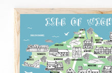 Load image into Gallery viewer, Isle of Wight Illustrated Map