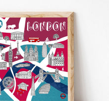 Load image into Gallery viewer, London Illustrated Map