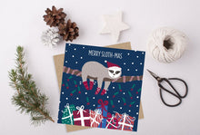 Load image into Gallery viewer, Merry Slothmas Christmas Card