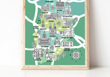 Load image into Gallery viewer, Nottinghamshire Illustrated Map