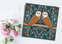 Load image into Gallery viewer, Folk Owl Card