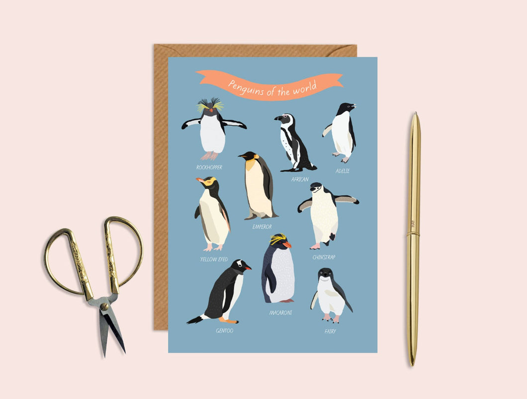Penguins Of The World Card