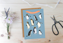 Load image into Gallery viewer, Penguins Of The World Card