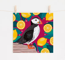 Load image into Gallery viewer, Puffin and Lemons Print