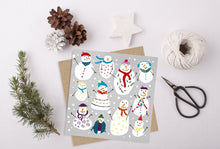 Load image into Gallery viewer, Snowmen Christmas Card