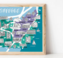 Load image into Gallery viewer, Suffolk Illustrated Map