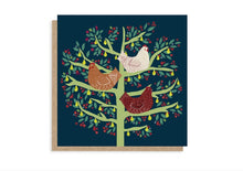 Load image into Gallery viewer, Three French Hens Christmas Card