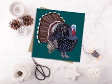 Load image into Gallery viewer, Turkey Christmas Card