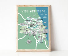 Load image into Gallery viewer, Tyne and Wear Illustrated Map