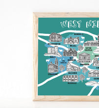 Load image into Gallery viewer, West Midlands Illustrated Map