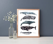 Load image into Gallery viewer, Whales Stack Print