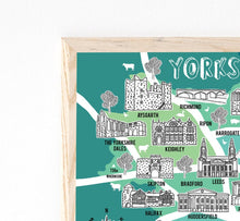 Load image into Gallery viewer, Yorkshire Illustrated Map