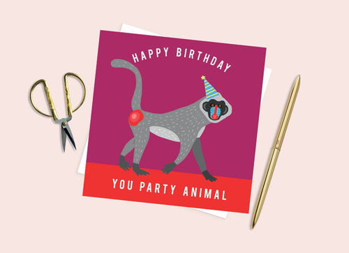 You Party Animal Birthday Card