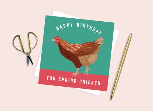 You Spring Chicken Birthday Card