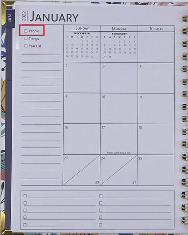 Sprouted Planner Monthly View