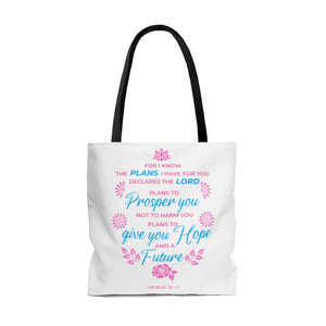 FOR I KNOW THE PLANS I HAVE FOR YOU TOTE BAG