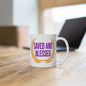 SAVED AND BLESSED MUG