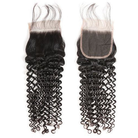 Brazilian Deep Wave/Curly Closure - King Collection