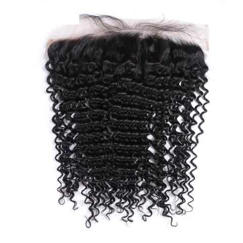 Brazilian Deep Wave/Curly Frontal - King Collection