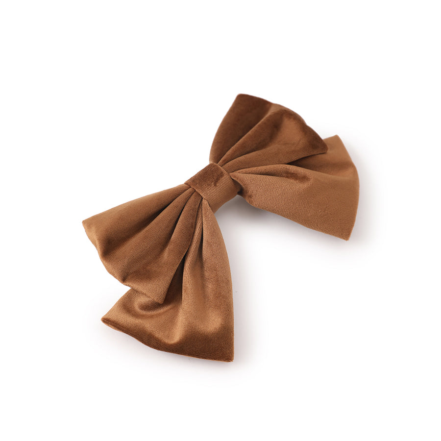 coffee brown bow