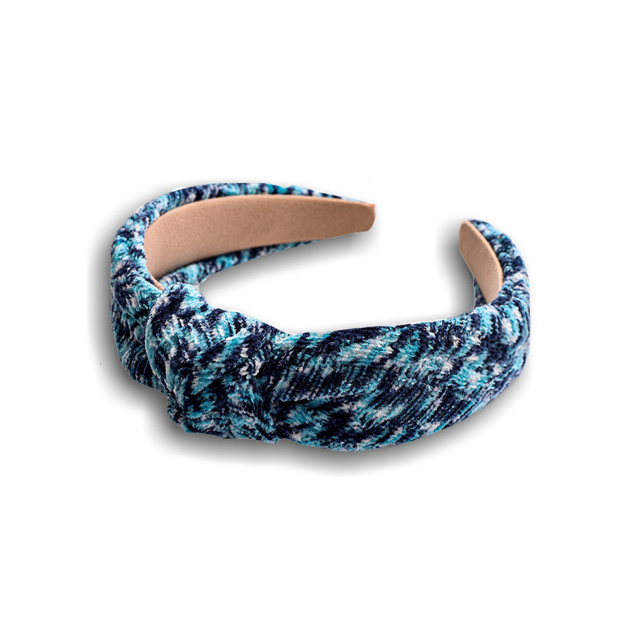 blue tweed headband
