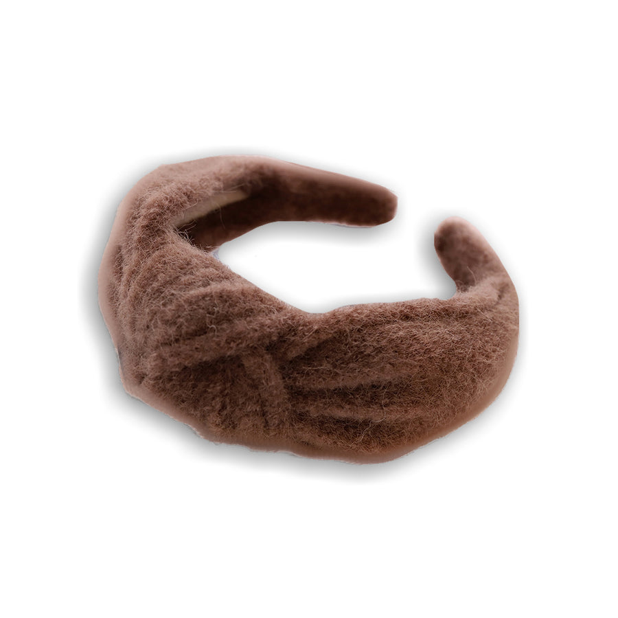Brown woollen headband