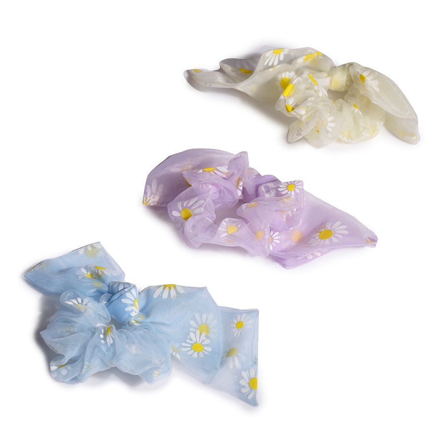 Little Daisy Scrunchies - Set of 3