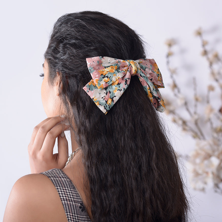 Peach Monet Bow
