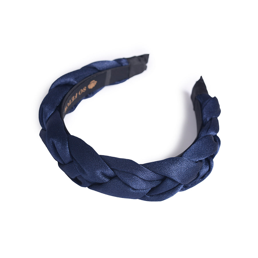 Deep Blue Braided Headband