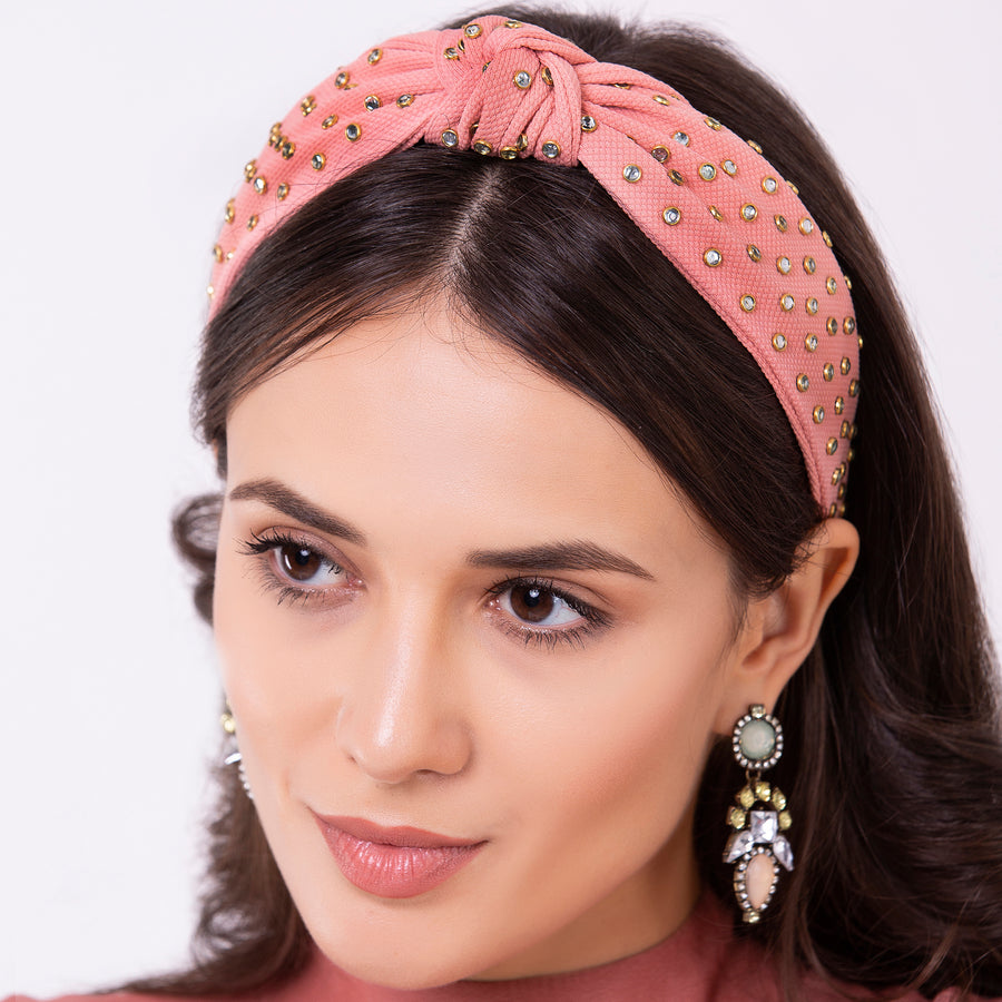 Lightning Pink Crystal Headband