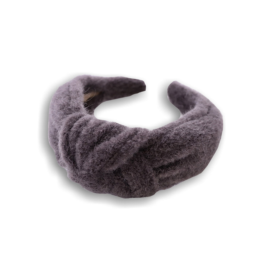 grey woollen headband