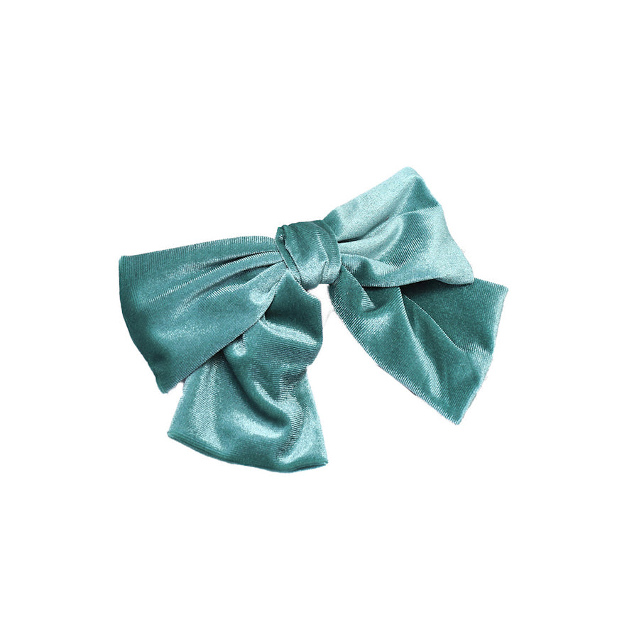 Sea-Blue Bow Barrette
