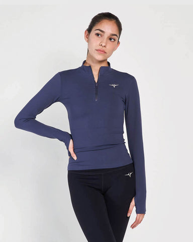 Beverly Quarter Zip Jacket - Midnight Blue