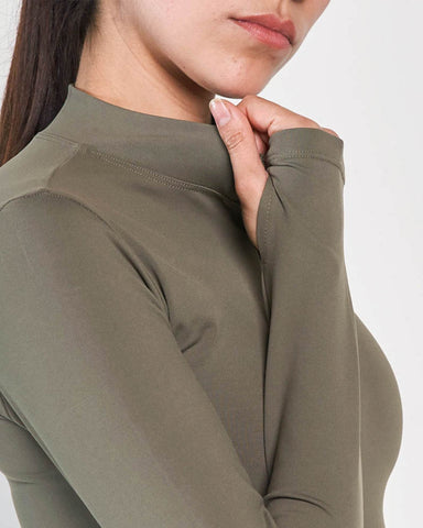 Beverly Quarter Zip Jacket - Olive