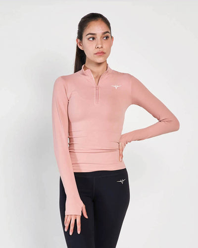 Beverly Quarter Zip Jacket - Pink