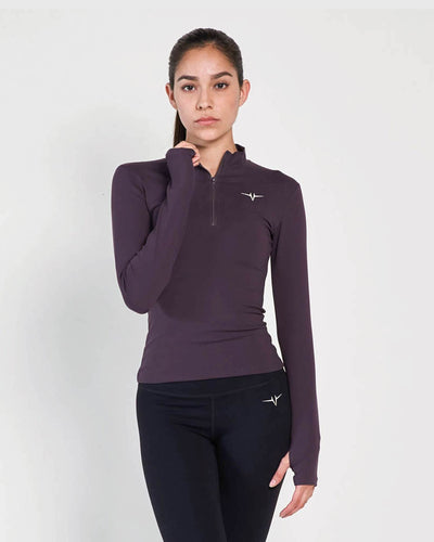 Beverly Quarter Zip Jacket - Purple