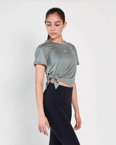 Knotty Tee - Silver Olive