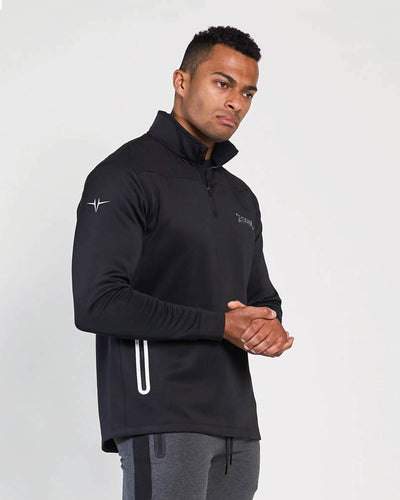 Elite Quarter Zip Jacket - Black